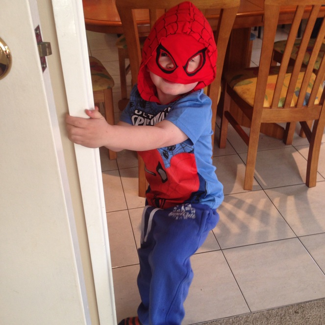 It's not chicken, but my little nugget eatin Spiderman
