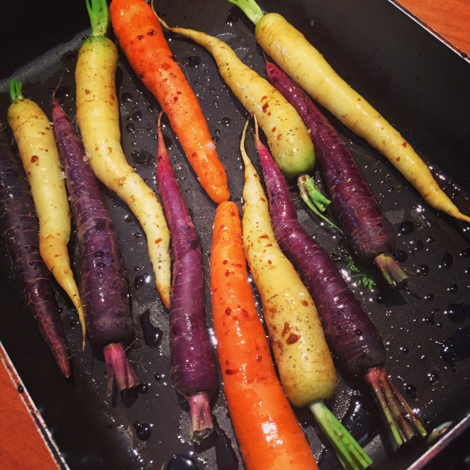 Local purple carrots
