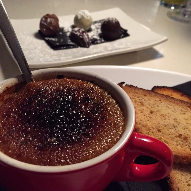creme brûlée, kawaka, chocolates, SCO, sydney cove oyster bar